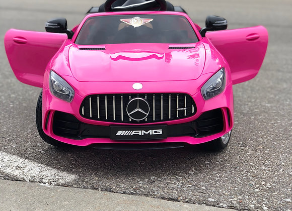 12V Pink Mercedes GTR AMG 1 Seater Electric Ride On Car For Kids