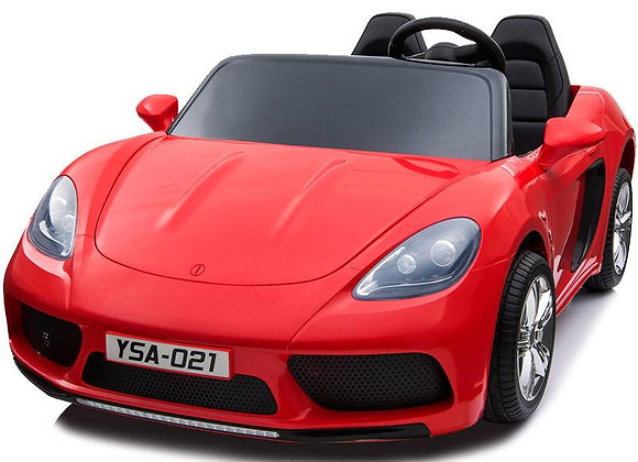PRE ORDER Red XXL 24V Porsche Panamera 2 Seater Ride On Car With Rubber Tire