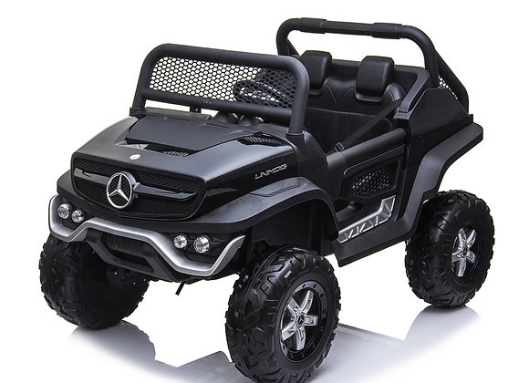 24V Black Mercedes Benz Unimog (with built in TV) Electric Ride On For Kids