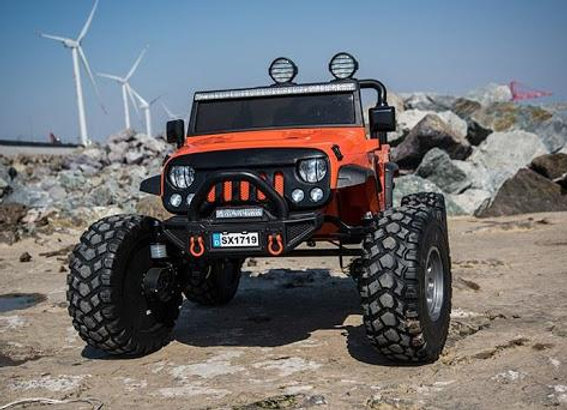 Large 2 Seater Monster Jeep Electric Ride On Car with Rubber Tires