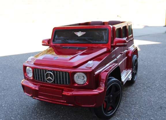 12V Red Mercedes G65 G Wagon Electric Ride On Car For Kids