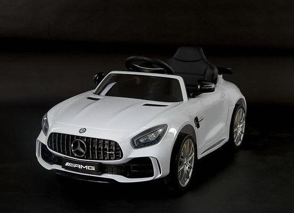 Licensed White Mercedes AMG GTR Kids Ride On Car