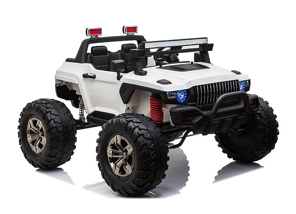 PRE ORDER - White 2 Seater Off Road Truck 4x4 12V Electric Ride On Car For Kids