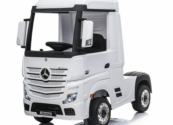 Licensed White Mercedes Benz Actros Kids Ride On Car