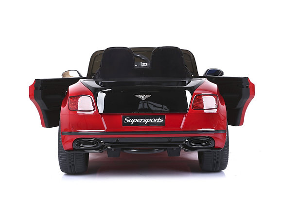 PRE ORDER - Red 2 Seater Bentley Continental 12V Electric Ride On Car For Kids