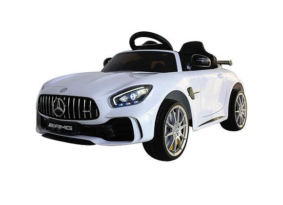 12V White Mercedes GTR AMG 1 Seater Electric Ride On Car For Kids
