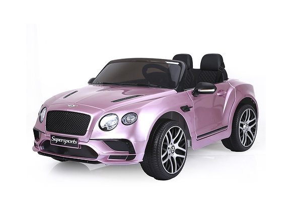 PRE ORDER - Pink 2 Seater Bentley Continental 12V Electric Ride On Car For Kids