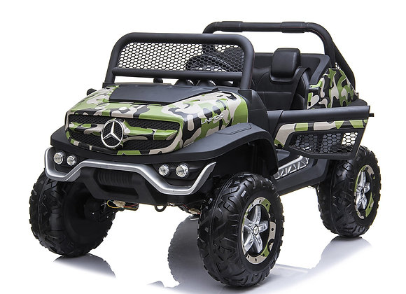 24V Camo Mercedes Benz Unimog 2 Seater Electric Ride On For Kids