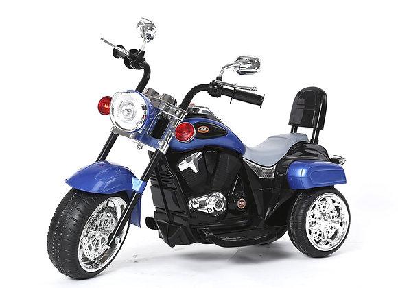 Blue Chopper Style Electric Ride On Bike