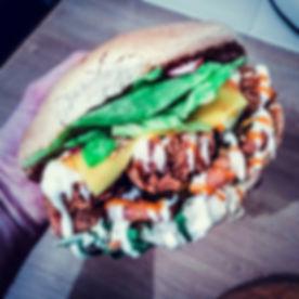 Resist! Vegan Kitchen chickun burger