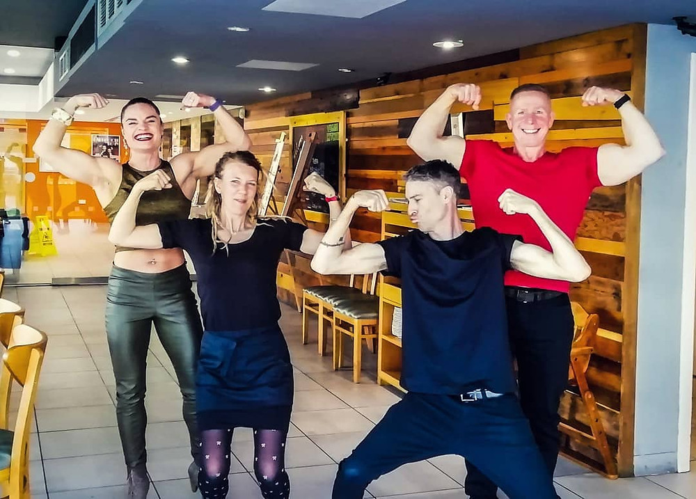 Vegan bodybuilders visit Resist Vegan Kitchen