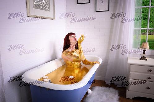 Signed 8x10 Glitter Bath -2