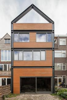 Nieuwe achtergevel kluswoning Rotterdam