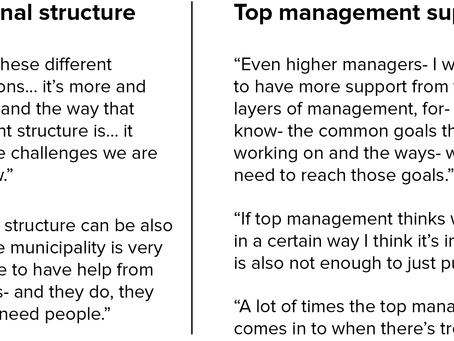Barriers to agile working in planning departments - Master's Thesis Part 6