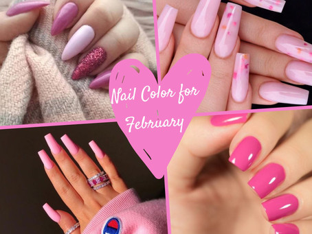 Nail Color for February - Pretty in Pink