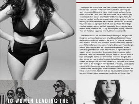 The Fashion Movement: Charitable Causes and Supporting Rights