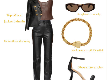Outfit of the Day 03/08/21 - Leather and Gold
