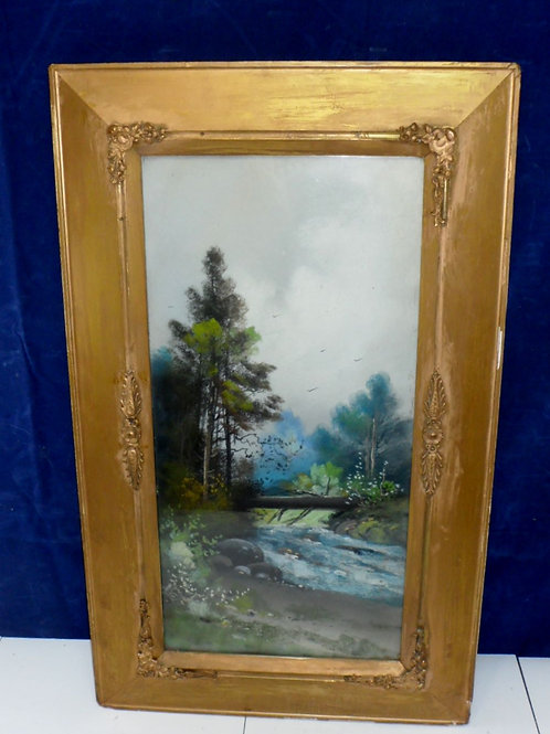Oil Painting Landscape Of Forrest & Stream
