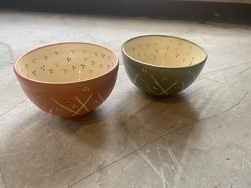 草木柄夫婦茶碗 KinuyoYamashita