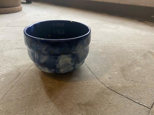 KinuyoYamashitaのうつわ冬景色抹茶茶碗 青座布団付き