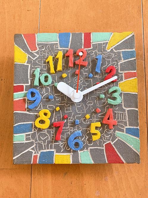 カラフルな掛け時計 マットストーン
