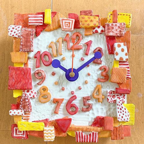 朱の掛け時計 CLOCK