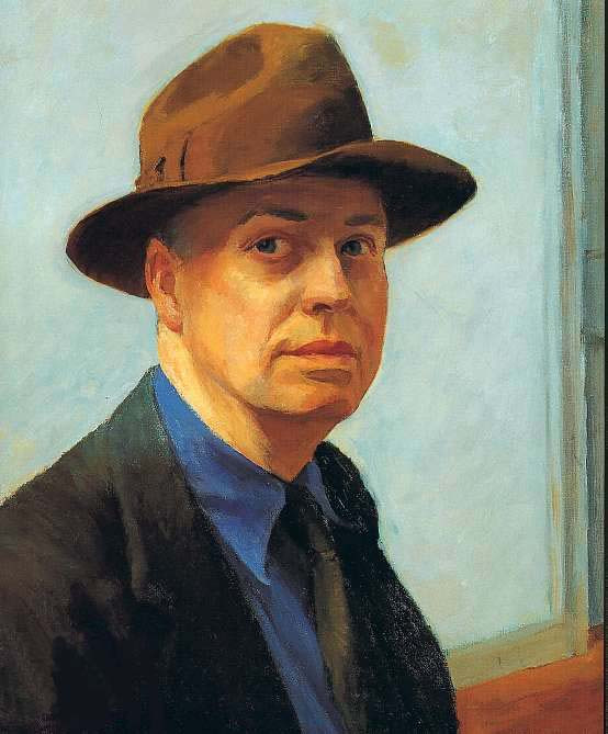 Edward Hopper, Autoportrait