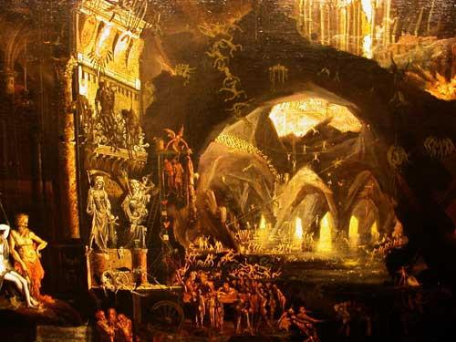 L'Enfer de Dante, le cercle de la luxure (W.Blake, City Museum Birmingham)