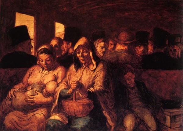 Honoré Daumier, Les wagons de la troisième classe