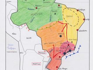 Croquis: Les dynamiques territoriales du Brésil