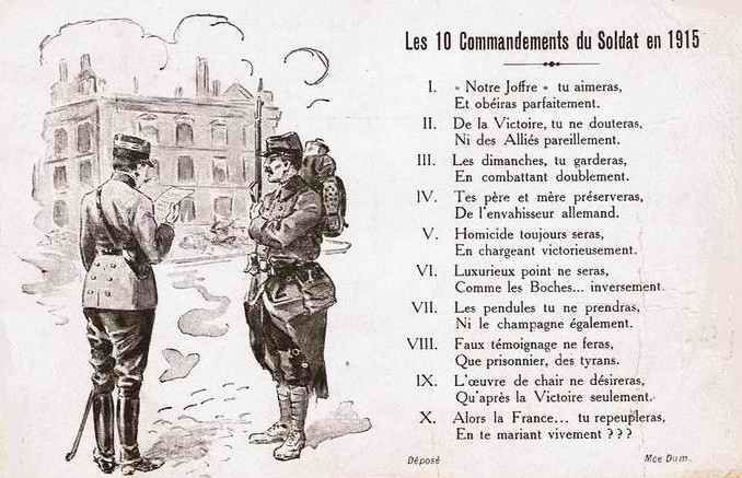 Les 10 commandements du soldat