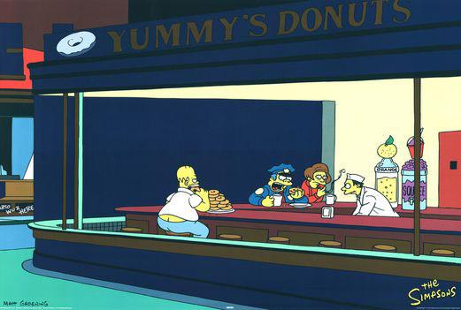 Nighthawks version Simpsons