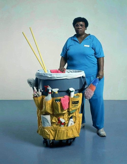Cleaning lady, Duane Hanson
