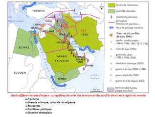 Le Proche et le Moyen-Orient: foyer de conflits depuis 1945