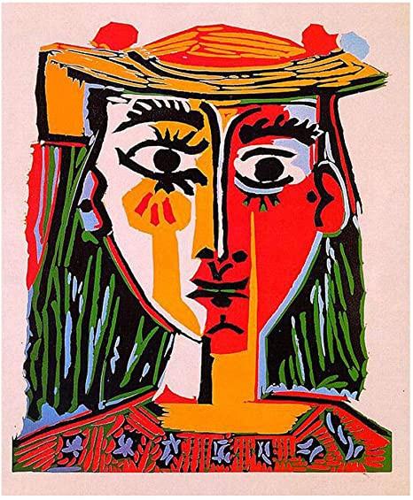 Tête de femme dans un chapeau, Picasso, 1962