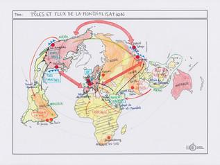 Croquis: Pôles et flux de la mondialisation