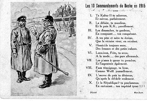 Les 10 commandements du Boch