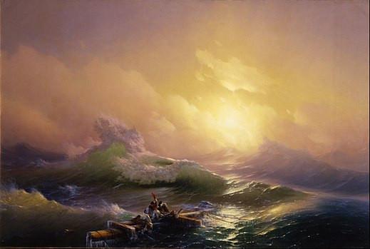 La neuvième vague de Hovhannes Aivazovsky (1850).