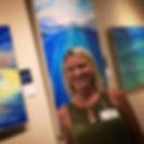 Artist Kristi Sandberg at a recent show