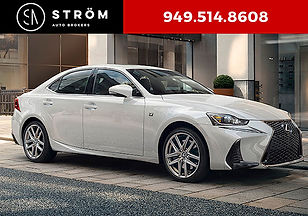 2018 Lexus IS 300 F Sport Lease