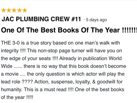 My book, The 3-0 is now published worldwide. I received this touching review;