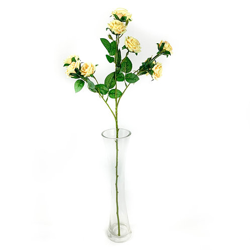 Artificial Cottage Roses Yellow