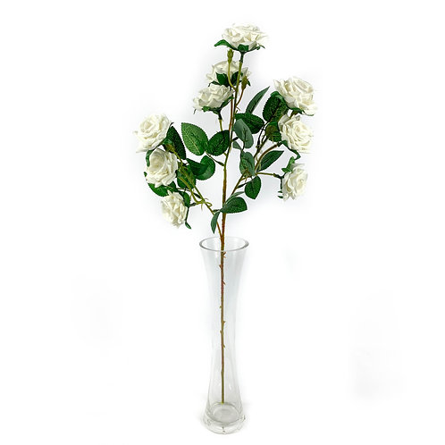 Artificial Cottage Roses White