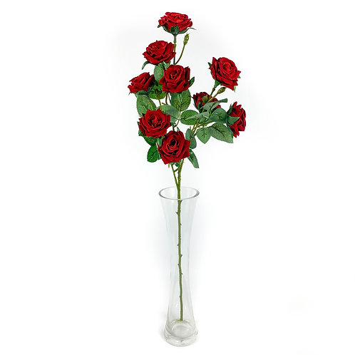 Artificial Cottage Roses Red