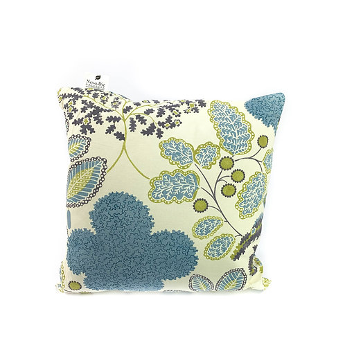 Blue Leaf Cushion Small