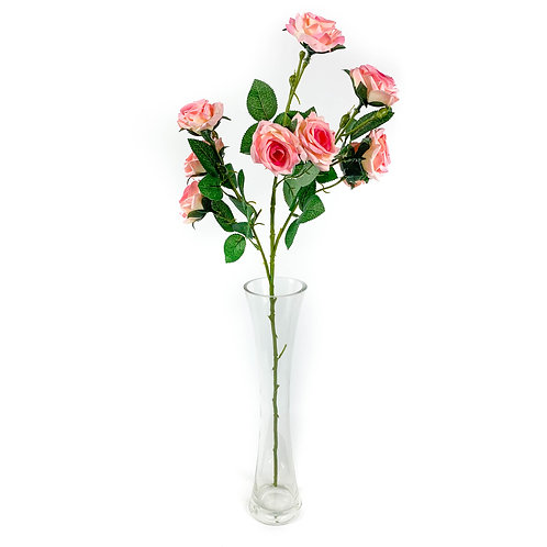 Artificial Cottage Roses Pink