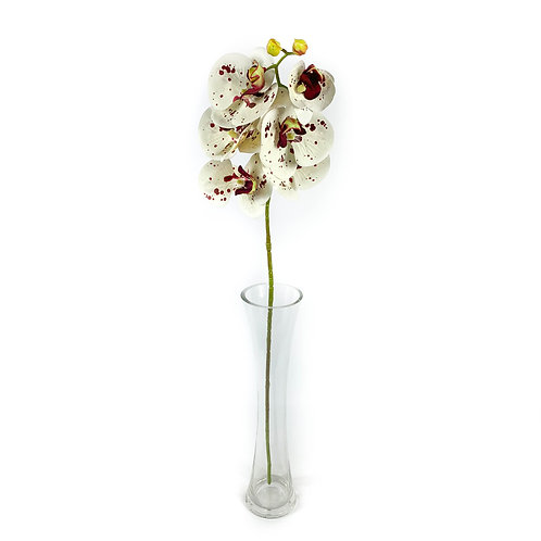 Artificial Real Touch Orchid White / Spotted
