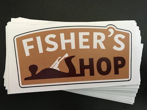 Fisher's Shop Sticker