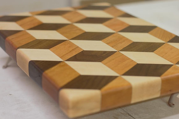 Tumbling Block Cutting Board