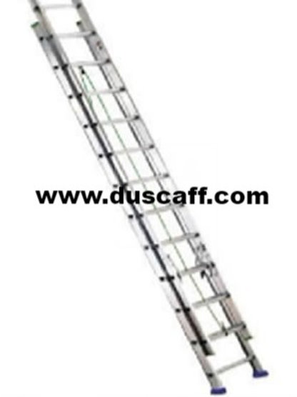 Double Section Straight Aluminium Ladder | 8.4 meters | 14 + 14 Steps